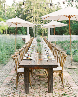 An Organic Garden Rehearsal Dinner in the Hudson Valley