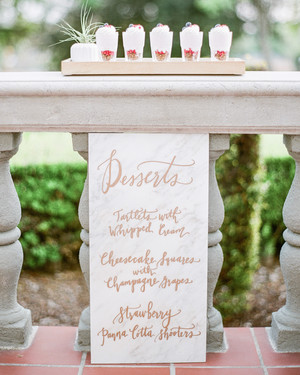 20 Elevated Menu Ideas for Your Wedding's Dessert Station