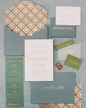 39 Glamorous Metallic Stationery Suites