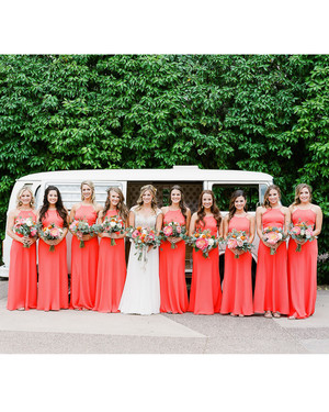 Coral Formal Dress for Wedding
