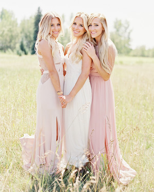 The Coolest Silk Bridesmaids' Dresses
