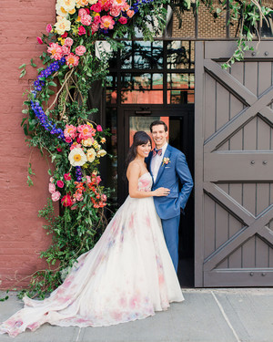 This Couple Went Bold and Colorful for Their Brooklyn, New York, Wedding