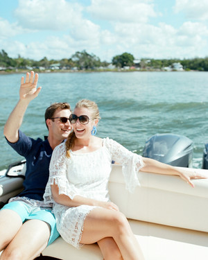 A Chic Island Welcome Party Off the Coast of Florida