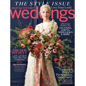 martha stewart weddings cover fall 2016