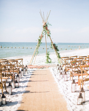 A Luxe, Bohemian Wedding in Naples, Florida