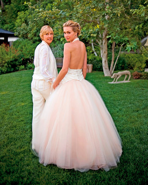 Celebrity Brides Who Wore Pink Wedding Dresses