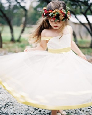 The Prettiest Fall Flower Girl Dresses