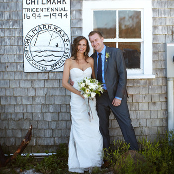A Yellow Nautical-Inspired Outdoor Wedding in Massachusetts