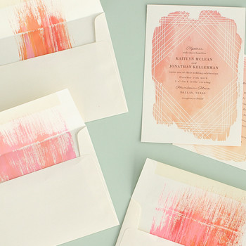 Upgrade Your Invites with This Brushed Envelope How-To