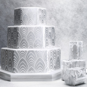 8 Platinum Wedding Cakes Ideas