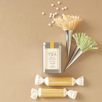 Tea Time Favor Packaging Clip Art