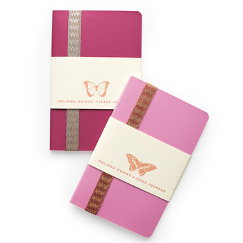 Butterfly Notebook Favor-Label Clip-Art