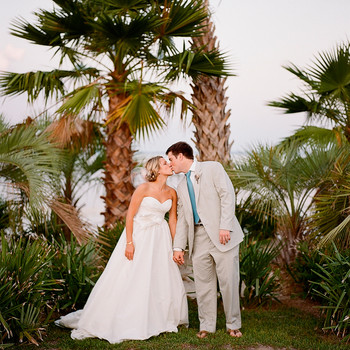A Vintage Pink-and-Blue Wedding Outdoors in Florida