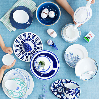 blue table china patterns