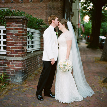 A Traditional and Formal Navy-Blue and White Wedding in Washington, D.C.