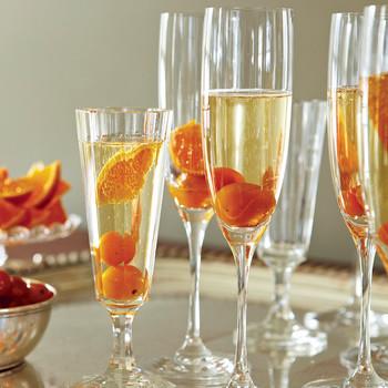 Kumquat-Champagne Cocktails