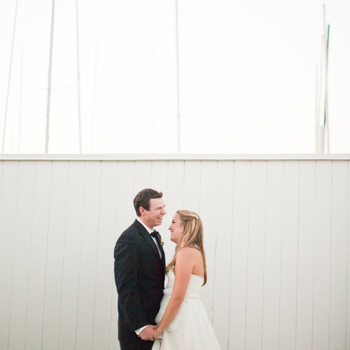 A Blue-and-White Nautical Wedding in Newport Beach
