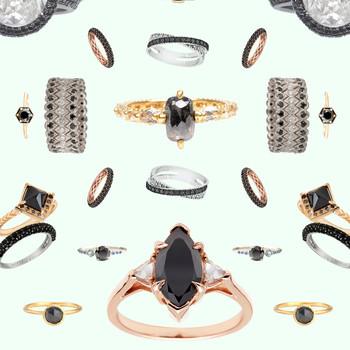 The New LBD: The Little Black Diamond Engagement Ring