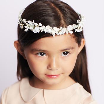 Flower Girl Floral Ribbon Crown