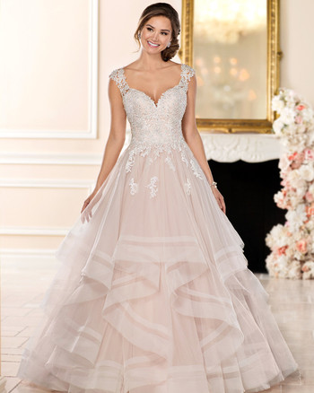 stella york ball gown v-neck