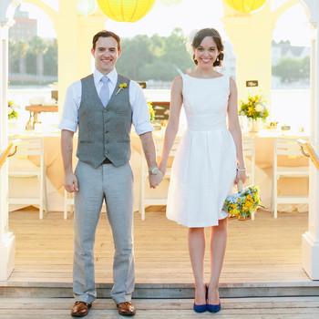 A Whimsical, Yellow Destination Wedding at Walt Disney World, Florida
