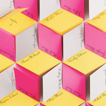 Cubist Escort-Card Wall Display