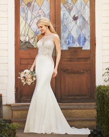martina liana full length gown lace high neck