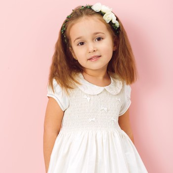 DIY Faux Flower Headband for a Flower Girl