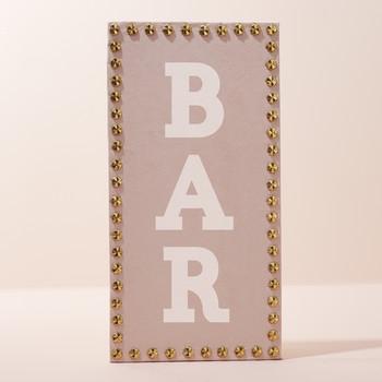 Studded Bar Sign
