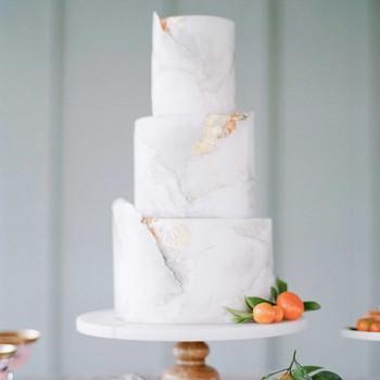 white marbled cake