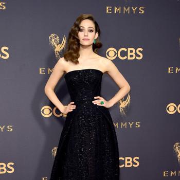 Emmy Rossum Emmys Red Carpet 2017