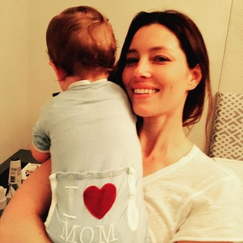 Jessica Biel and son Silas