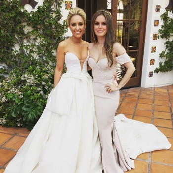 Rachel Bilson Bridesmaid in Pink Gown