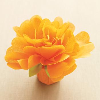 Tissue-Paper Flower Favors Template