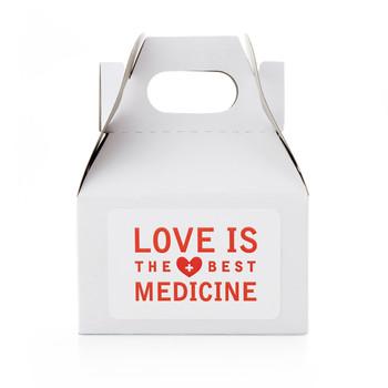 """Love is the Best Medicine"" Favor Label Clip Art"