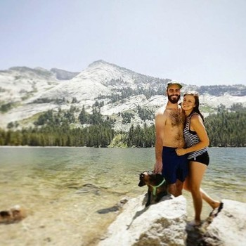 Couple stranded before wedding Instagram photo