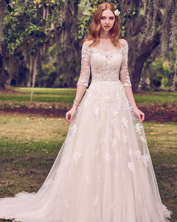 maggie sottero fitted illusion bateau