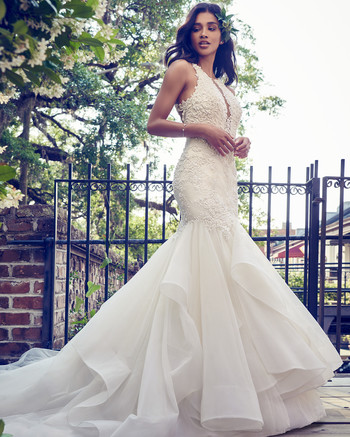 maggie sottero mermaid v-neck