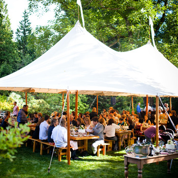 When to Move Your Outdoor Wedding Inside on a Hot Day