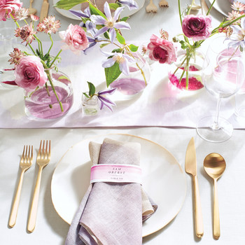 Watercolored Table Runner and Napkins