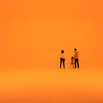 family in orange james turrell piece