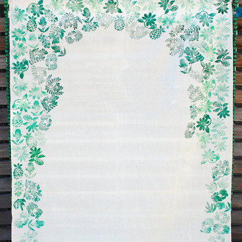 Stamped Fabric Wedding Backdrop
