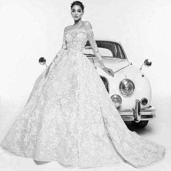 zuhair murad wedding dress spring 2019 off-the-shoulder ball gown