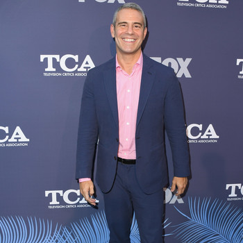 andy cohen posing on television critics association red carpet
