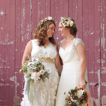 Vanessa and Lauren's Rustic Wedding in Maine