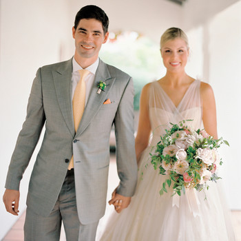 An Orange-and-Green Formal Wedding in California