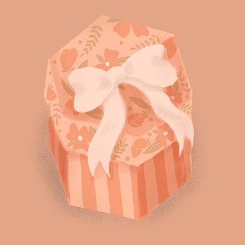 Bridesmaid Gift Guide, Illustrated Gift Box