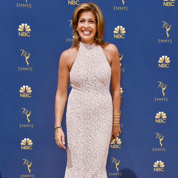 hoda kotb 70th emmy awards red carpet
