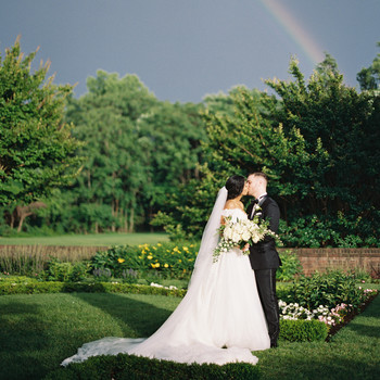 macey joshua wedding couple rainbow