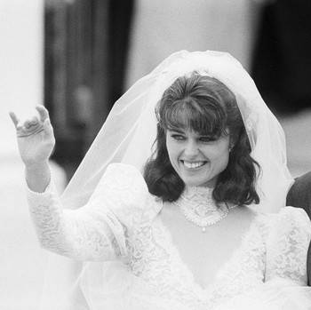 Maria Shriver Wedding Day Veil